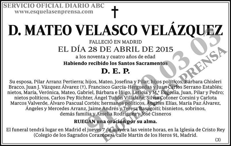 Mateo Velasco Velázquez